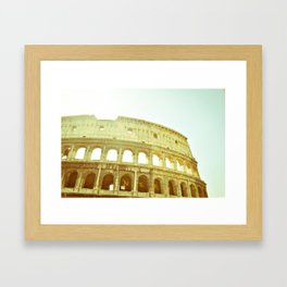 Postcards from Italy: Colosseo Framed Art Print