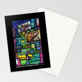 Time square montage 1  Stationery Cards