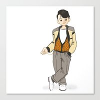 ferris bueller Canvas Prints featuring Ferris Bueller is the Man! by Troy Jensen