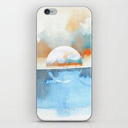 Orange Sea Drop iPhone Skin