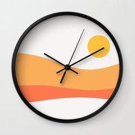 Geometric Landscape 22 Day Wall Clock