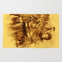 mad max Area & Throw Rugs featuring Homage to Mad Max by Giorgio Finamore
