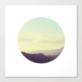 Dreamy mountain photograph of Tuscany Canvas Print