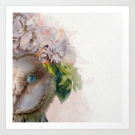Animal Art - Owl Painting Art Print