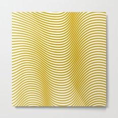 Golden Waves Metal Print