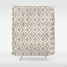 Mapuche Grey/Beige Shower Curtain