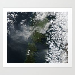 Volcano Chile Aerial Landscape Photography Art Print