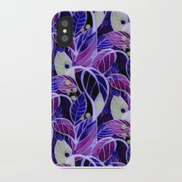 Violets and Blues iPhone Case