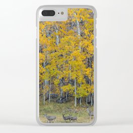Aspen Forest and Deer Clear iPhone Case