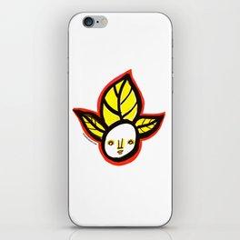 Yellow Leaf Babe iPhone Skin
