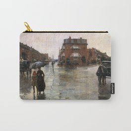 Childe Hassam - Rainy Day, Boston, 1885 Carry-All Pouch