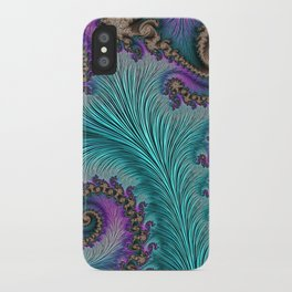 Aqua Fronds iPhone Case