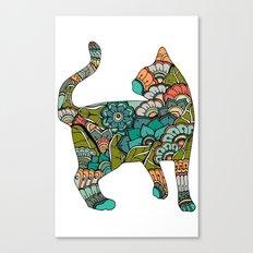 Vegetarian cat Canvas Print