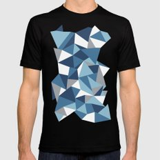 Abstraction #10 Black Mens Fitted Tee MEDIUM