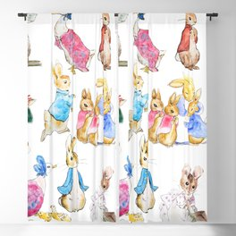 Tales of Peter Rabbit  characters Beatrix Potter Blackout Curtain