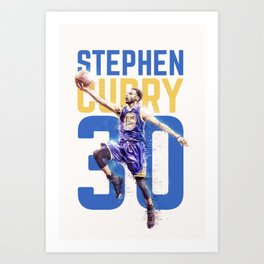 Steph Curry Warriors Art Print