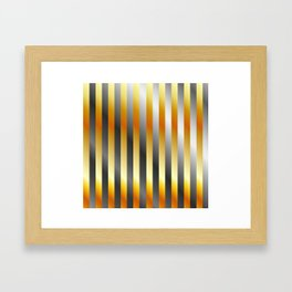 Illustration of a meta steel and gold Framed Art Print