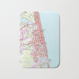 Vintage Map of Virginia Beach (1965) 2 Bath Mat