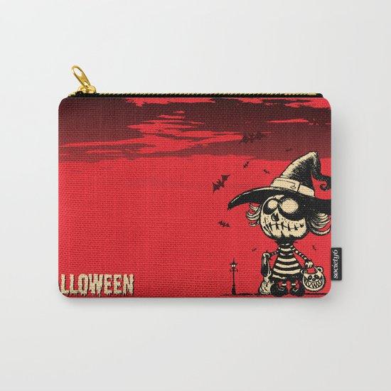 Halloween pumpkin girl Carry-All Pouch