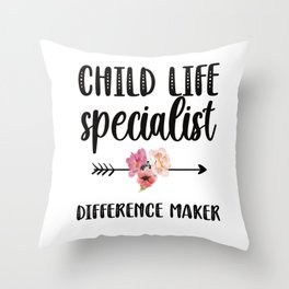 Child Life Specialist Pediatric Care Professional Throw Pillow
