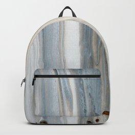 Gray Woodgrain  Backpack