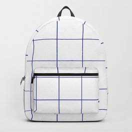 Graph Paper (Navy Blue & White Pattern) Backpack