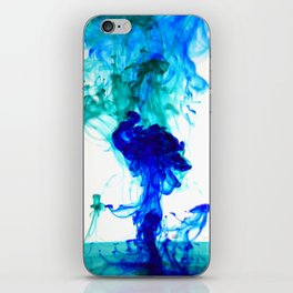 Turquoise ink iPhone Skin