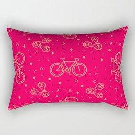 Bike and Chain Rectangular Pillow