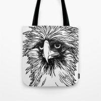 hawk Tote Bags featuring Hawk  by Art is Vast