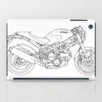 ducati iPad Cases featuring Ducati Monster 695d 2007 by Larsson Stevensem