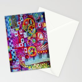 Red Queen's Player Piano Poker Game Stationery Cards