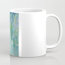 SEA SCALES - Beautiful Ocean Theme Peacock Feathers Mermaid Fins Waves Blue Teal Color Abstract Coffee Mug