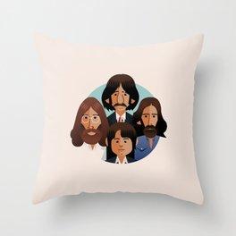 john-paul-george-ringo-1969 Throw Pillow