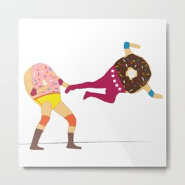 Dropkicks and Donuts Metal Print