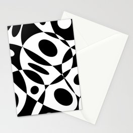 Mid Century Modern Black and White Cutout Circles // V1 Stationery Cards