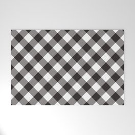 Gingham - Black Welcome Mat