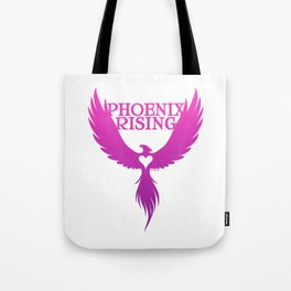 PHOENIX RISING purple with heart center Tote Bag