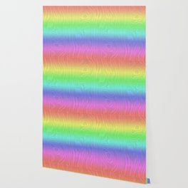 Groovy Pastel Rainbow Wallpaper