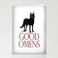 good omens Stationery Cards featuring Good Omens by RoboCharli