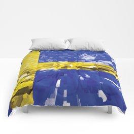 Extruded Flag of Sweden Comforters