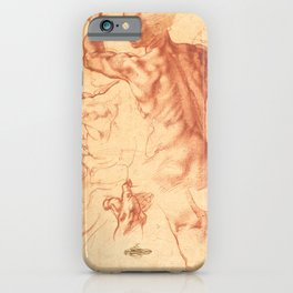 "Michelangelo Buonarroti ""Studies for the Libyan Sibyl"" iPhone Case"