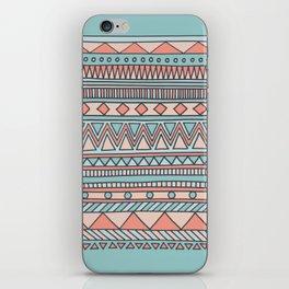 Tribal #4 (Coral/Aqua) iPhone Skin