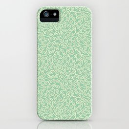 Japanese Scroll Pattern in Green & Yellow iPhone Case