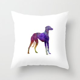 Arabian Greyhound in watercolor Throw Pillow