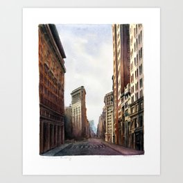 The Flatiron Building in Sepiatone Art Print