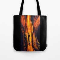 namaste Tote Bags featuring Namaste by Thom Lupari