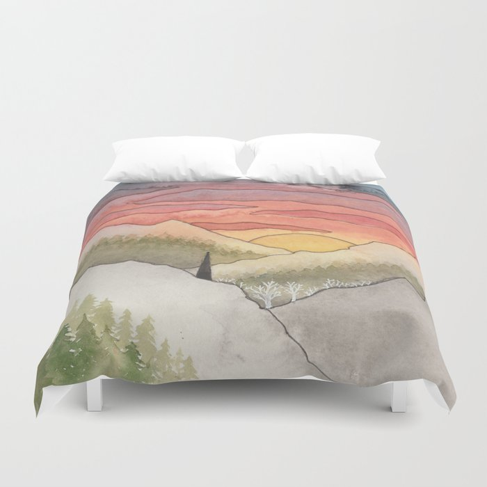 Rusty Light on the Pines Duvet Cover