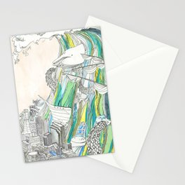 Whale Tital Wave Stationery Cards