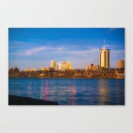 Downtown Tulsa from a Distance - Oklahoma Skyline Canvas Print