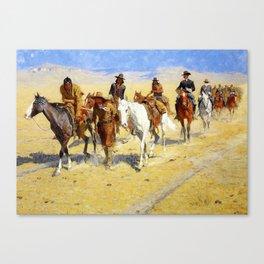 "Frederic Remington Art ""Pony Tracks In the Buffalo Trail"" Canvas Print"